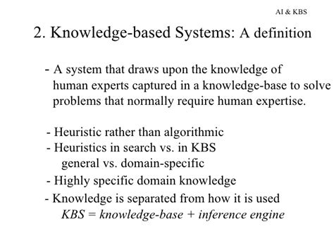 define systemize knowledge based systems
