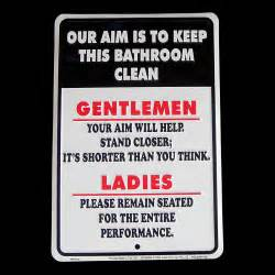 signs for bathroom our aim is to keep bathroom clean tin sign metal plaque ebay