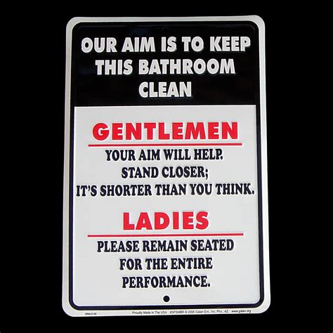 bathroom clean up signs our aim is to keep bathroom clean tin sign metal plaque
