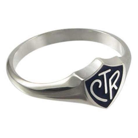 black regular sterling silver ctr ring ctr rings lds