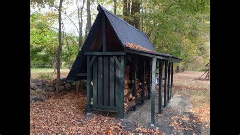 build  firewood storage shed time lapse youtube
