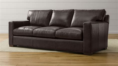 axis ii brown 3 seater leather sofa reviews crate and