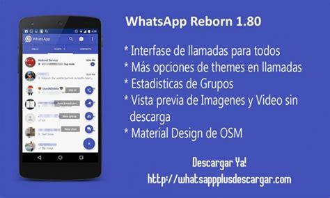 best themes for whatsapp reborn bajar whatsapp reborn para tu m 243 vil gratis unusuario