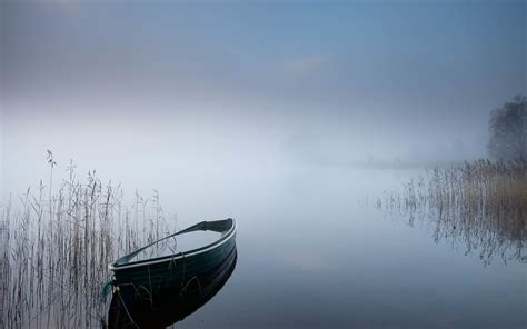 fishing boats games free online boat rowboat lake fog mist hd wallpaper nature and