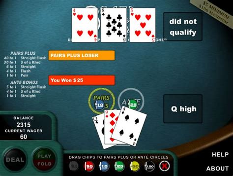 Free Online Poker Games To Win Real Money - 3 card poker online