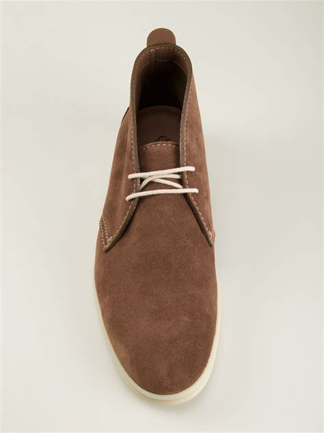 loro piana lace up shoes in brown for lyst