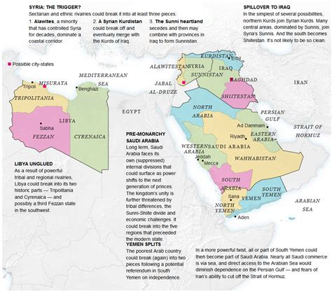 middle east map redrawn how 5 me countries could become 14 the muslim issue