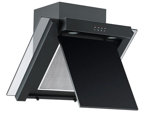 black kitchen hood fan cookology ang605bk black 60cm angled extractor fan