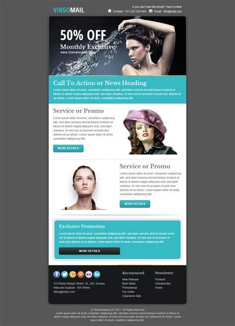 marketing newsletter templates virgomail email marketing newsletter template by
