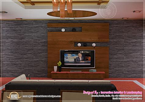 Tv Unit Design For Hall by Interior Design Ideas For Homes Home Kerala Plans