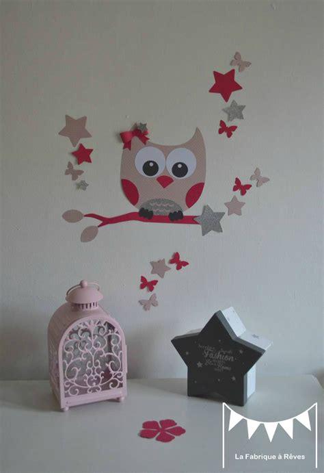 stickers chambre enfant fille d 233 coration chambre enfant fille stickers hibou chouette