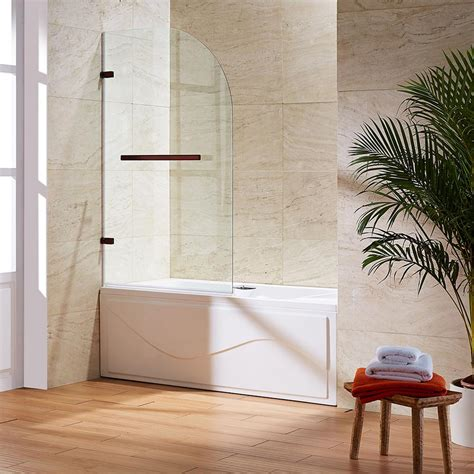 curved bathtub doors vigo orion 34 in x 58 in frameless curved pivot tub