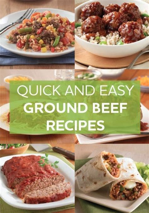 quick and easy ground beef recipes good food good
