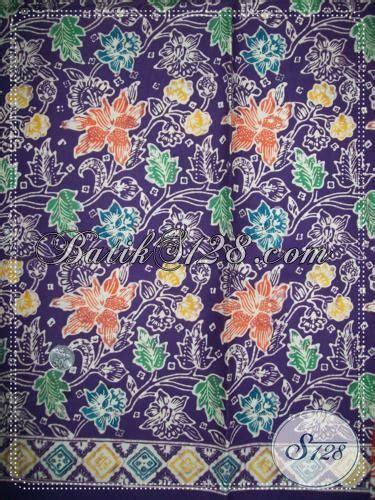 Kemeja Katun Batik Floral Hitam Pria Lengan Pendek Kerja Kantor batik floral warna ungu elegan k1215c toko batik