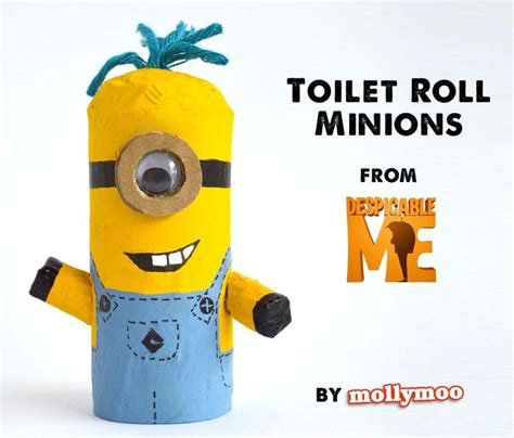 Minion Toilet Paper Roll Craft - toilet roll crafts for despicable me minions