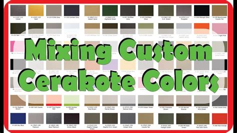 cerakote colors mixing custom colors with cerakote