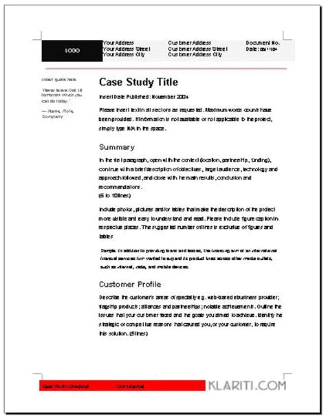 100 word case study template sle data analysis