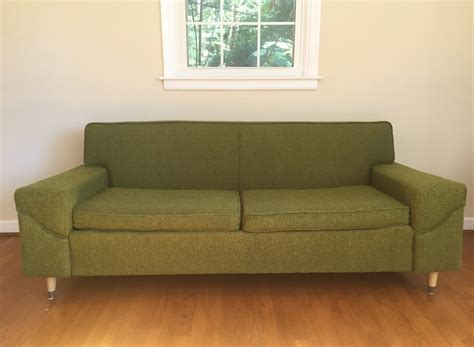 kroehler couch mid century modern two cushion sofa by kroehler epoch