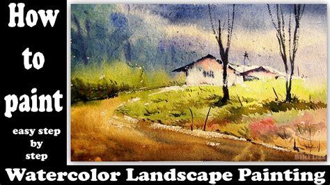 watercolor landscape tutorial youtube watercolor landscape tutorial how to paint a simple
