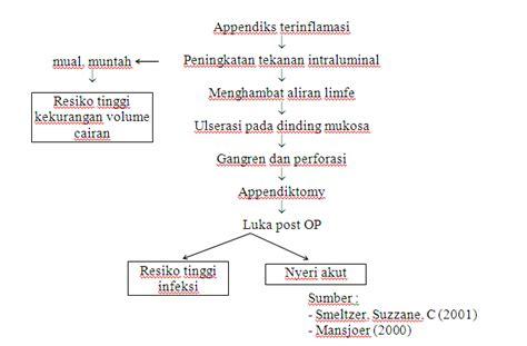 format asuhan keperawatan gastritis pathway woc ima apendiksitis asuhan keperawatan