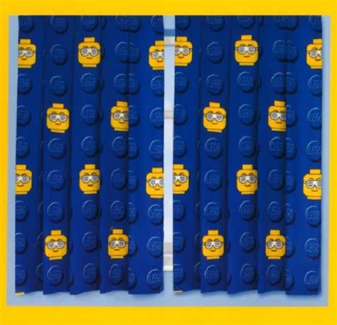 Ready Sunglass Fullset 1 66 x 54 quot lego sunglasses ready made curtains set childrens bedro