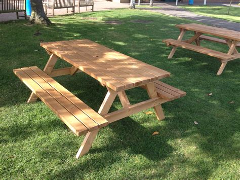 a frame bench wooden a frame picnic bench 8 seater e timber products