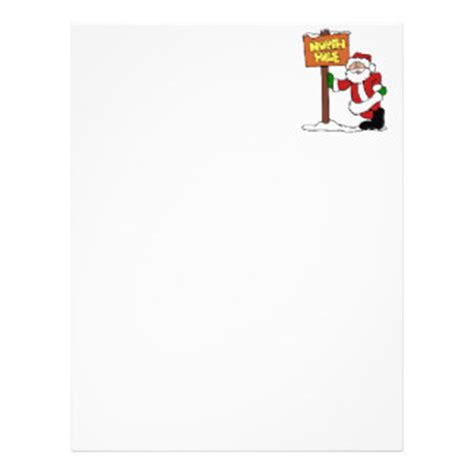 Official Letterhead From The Pole Pole Santa Claus Letterhead Custom Pole Santa Claus Letterhead Templates