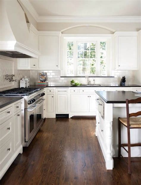 White Kitchen With Black Countertops Home Interior Kitchens With White Cabinets And Black Countertops