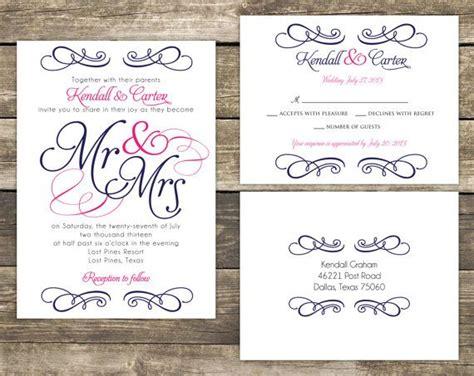 Mr And Mrs Wedding Invitation Wording