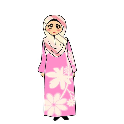 Bicara Freebies Doodle Muslimah Berjubah