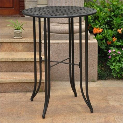 Patio Bar Table Bar Height Patio Table In Antique Black 3467 Tbl Ant Bk
