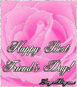 best friends day pink rose glitter graphic comment