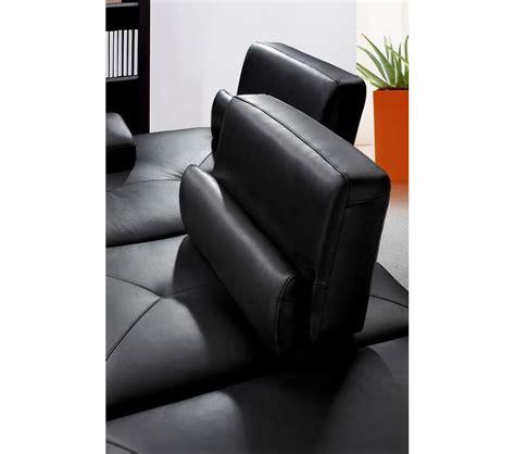 Dreamfurniture Com Tango Modern Black Leather Modern Black Leather Sofa