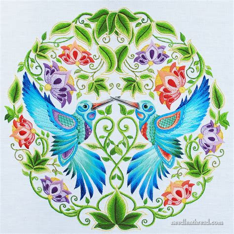 secret garden coloring book completed secret garden hummingbirds last stitches finished