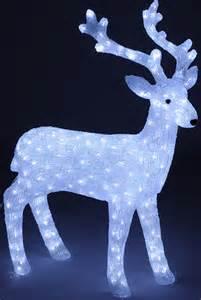 rentier beleuchtung sanifri home beleuchtetes rentier 100cm wei 223 280 led