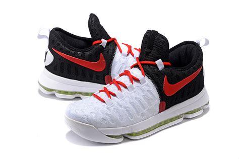 cheap nike kd 9 white black basketball shoes for sale