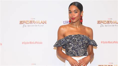 laura harrier model spider man homecoming star laura harrier s red carpet