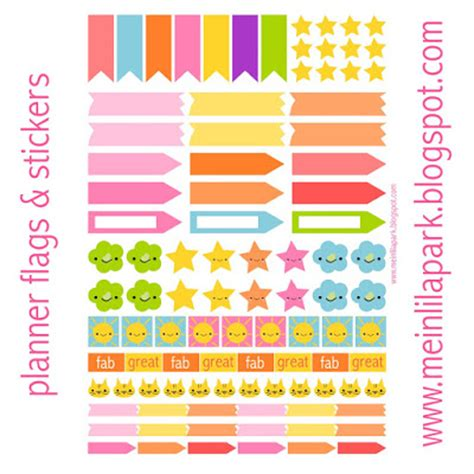 printable planner markers free printable planner flags and stickers ausdruckbare
