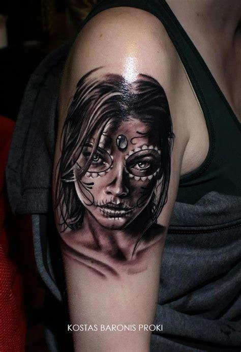 tatouage d une santa muerte catrina katrina inkage