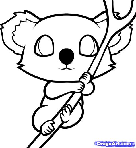 cute koala coloring pages how to draw a koala for kids step by step animals for
