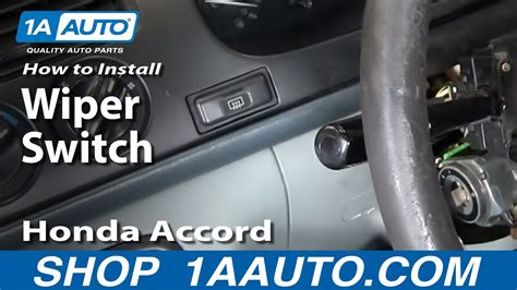 repair windshield wipe control 2004 toyota prius navigation system how to replace windshield wiper switch 95 02 honda accord youtube
