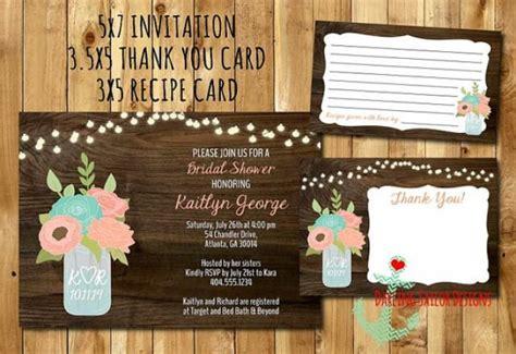 when do you send bridal shower thank cards rustic jar bridal shower invitation recipe card thank you card 2283011 weddbook