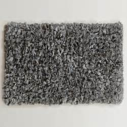 Grey Bathroom Rugs Gray Jersey Shag Bath Mat World Market