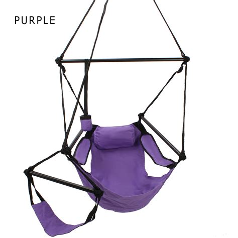 sky swing chair deluxe single swing hanging sky chair footrest dfohome