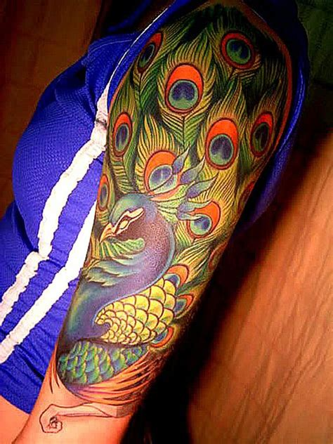peacock sleeve tattoo designs best 25 peacock sleeve ideas on