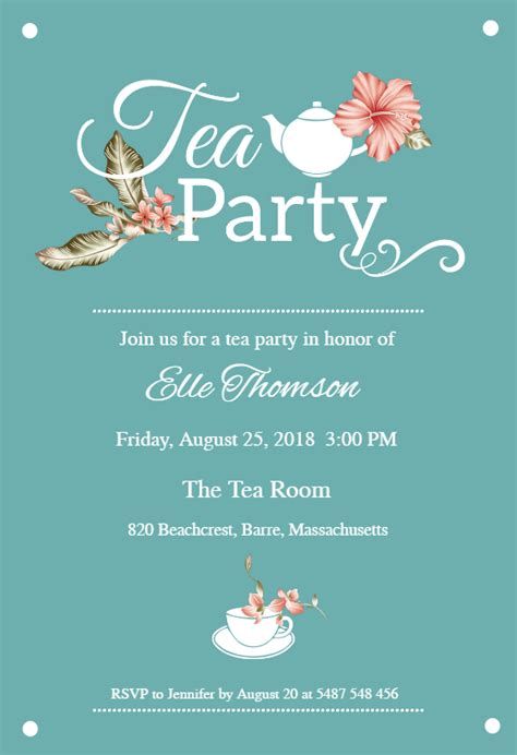 Bridal Shower Tea Party Free Bridal Shower Invitation Template Greetings Island Bridal Shower Tea Invitations Templates