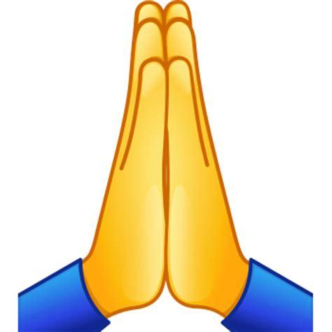 emoji pray praying hands symbols emoticons