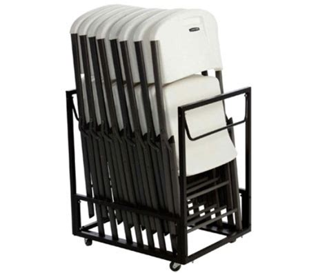 Chair Racks For Folding Chairs by Lifetime Chair Carts 80279 Standing Folding Chair Rack