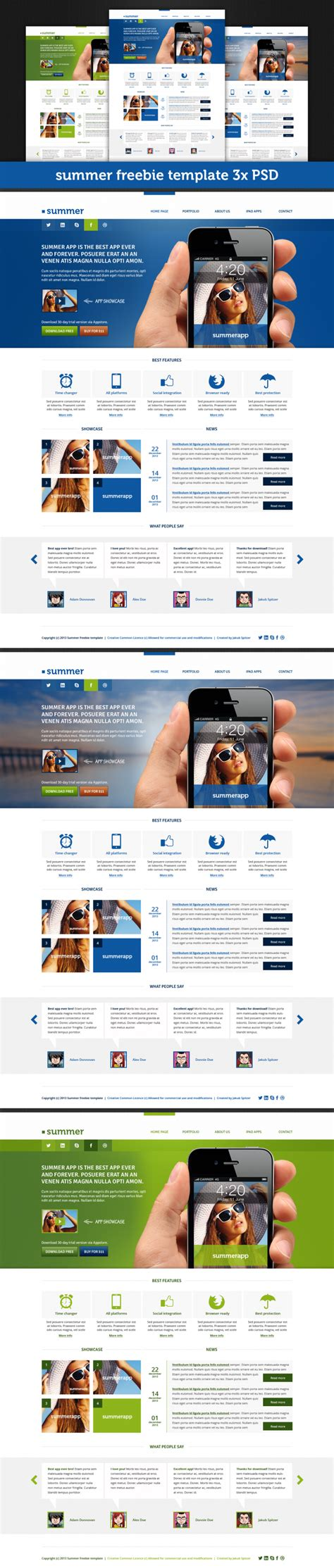free download web layout psd format summer template free psd file download download psd