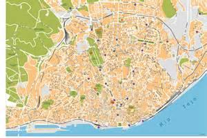 Lisboa city vector maps lisbon mapscd com